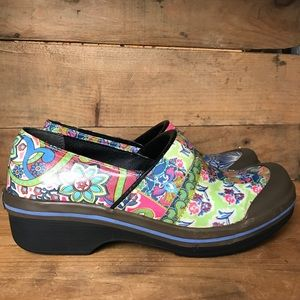 Dansko Vegan Floral Clogs Slip On